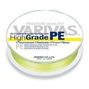 Шнур Varivas High Grade PE 150м #1.0 нагр. 6кг желтый