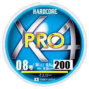 Шнур Duel Hardcore X4 PRO 200м #0.8 нагр. 6.4кг 0.15мм Yellow