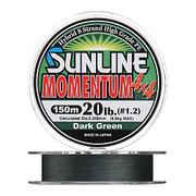 Плетенка SUNLINE MOMENTUM 4Х4 HG 150 м 2.0 (0.23 мм) нагр. 13.5 кг/30 Lb Dark Green