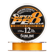 Плетенка SUNLINE SUPER PE 8 BRAID 150 м 2.0 нагр. 10 кг 20LB