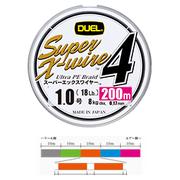 Шнур Duel SUPER X-WIRE 4 200 м #0.6 нагр. 5.4 кг 5color