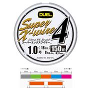 Шнур Duel SUPER X-WIRE 4 150 м #0.8 нагр. 6.4 кг 5color