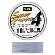 Шнур Duel SUPER X-WIRE 4 150 м #0.6 нагр. 5.4 кг Silver