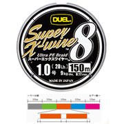 Шнур Duel SUPER X-WIRE 8 150 м #1.0 нагр. 9 кг 5color