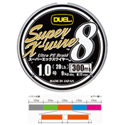 Шнур Duel SUPER X-WIRE 8 300 м #1.0 нагр. 9 кг 5color