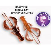 Crazy Fish  Nimble 5' #8D Orange Coffee