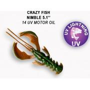 Crazy Fish  Nimble 5' #14 UV Motor Oil