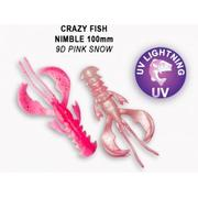 Crazy Fish Nimble 4' #9D Pink Snow