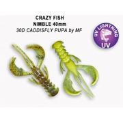 Crazy Fish  Nimble 2.5' #30D Caddisfly Pupa