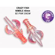 Crazy Fish  Nimble 1.6' #9D Pink Snow