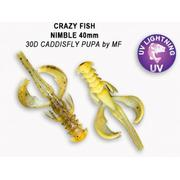 Crazy Fish  Nimble 1.6' #30D Caddisfly Pupa