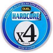 Шнур Duel Hardcore X4 200м #0.8 нагр. 6.4кг 0.153мм 5Color