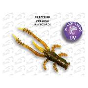 Crazy Fish Crayfish 1.7'/14-UV Motor Oil