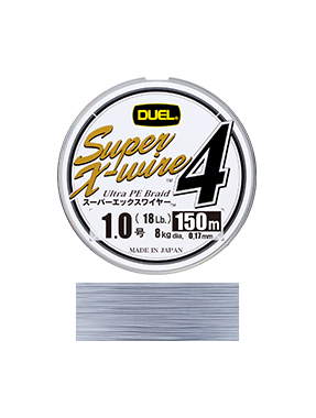 Шнур Duel SUPER X-WIRE 4 150 м #1.0 нагр. 8 кг Silver