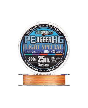 SUNLINE PE JIGGER HG LIGHT 200 м 1.0 нагр. 7.5 кг/16 Lb