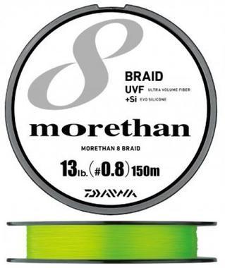 Шнур Daiwa MORETHAN UVF 8BRAID+Si 150м #1.2 нагр. 9кг зеленый