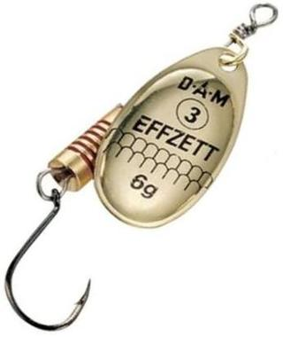 Блесна DAM Spinner Single Hook №3 6гр Gold