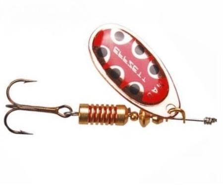 Блесна DAM Standart Spinner №4 10гр Copper Black Dot