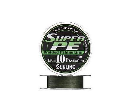 Плетенка SUNLINE SUPER PE 300 м 4.0 (0.33 мм) нагр. 18 кг/40 Lb Dark Green