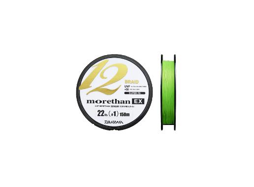 Шнур Daiwa MORETHAN EX 12BRAID 150м #1.0 нагр. 10кг зеленый