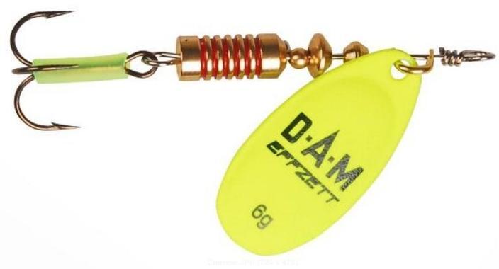 Блесна DAM Fluo Spinners №5 12гр Yellow